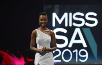 SABC News Zozibini Tunzi Twitter@GovernmentZA - Congratulations pour in for Miss SA