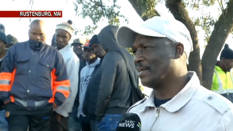 SABC News Miners - Miners at Impala stage an underground sit-in demanding permanent employment