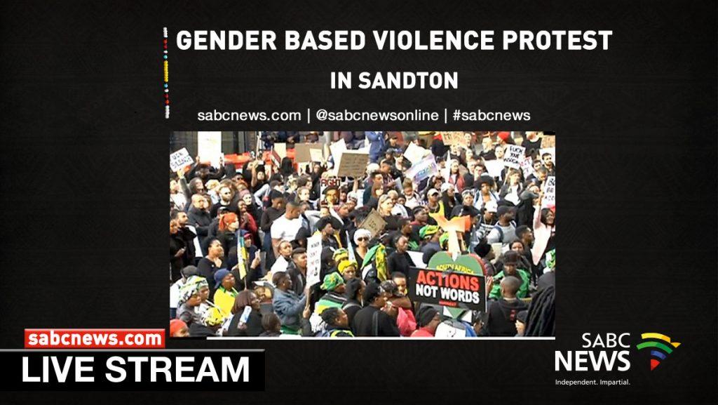 GBV Sandton Streaming 1024x577 - WATCH: #ShutDown Sandton protest