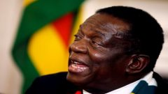 The Zimbabwean President Emmerson Mnangagwa