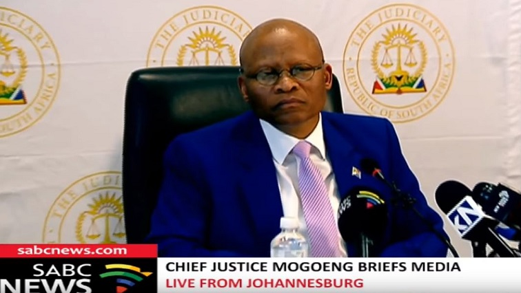SABC New Mogoeng Mogoeng - Chief Justice rejects claims of corruption in the judiciary