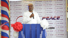Air Peace CEO Allen Onyema speaking at the airline press conference.
