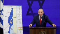 Israeli Prime Minister Benjamin Netanyahu delivers a statement in Ramat Gan, near Tel Aviv, Israel.