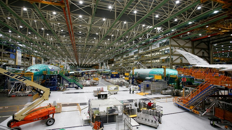 SABC News Boeing Reuters - Boeing suspends load test for new 777X aircraft