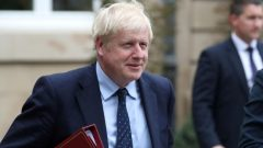 British Prime Minister Boris Johnson leaves after a meeting with Luxembourg's Prime Minister Xavier Bettel in Luxembourg.