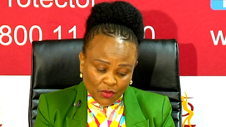 SABC News Busisiwe Mkhwebane 1 - Mkhwebane shocked by service received by Kimberley residents