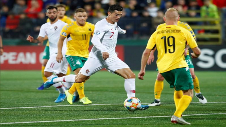 SABC News Christiano Ronaldo R - Ronaldo hits four for Portugal in 5-1 defeat of Lithuania