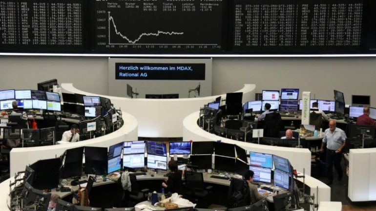The German share price index DAX graph is pictured at the stock exchange in Frankfurt, Germany.