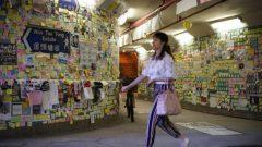 "A ""Lennon Wall"" is seen in Tai Po, Hong Kong, China."