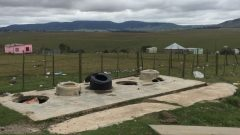 Open air pit latrines at Lutholi Junior School, Eastern Cape, photo taken 3 weeks ago.