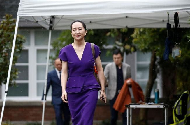 Huawei Technologies Chief Financial Officer Meng Wanzhou leaves her home to appear for a hearing at British Columbia supreme court, in Vancouver, British Columbia.