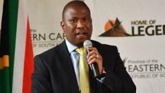 Oscar Mabuyane speaking at Lusikisiki College of Education.