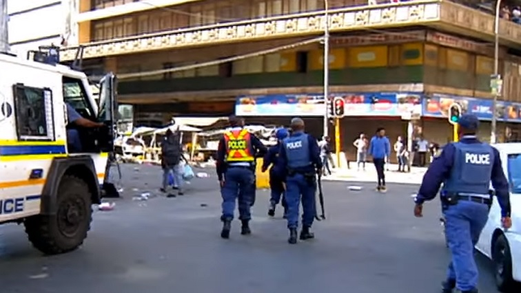 SABC News Police - One confirmed dead in Joburg CBD following renewed violence