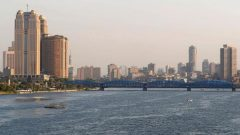 A general view of buildings by the Nile River in Cairo, Egypt.