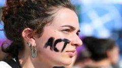 A climate activist