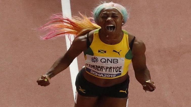 Shelly Ann Fraser Pryce.R - Fraser-Pryce blazes to history with fourth world gold