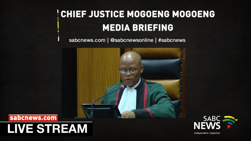 cj moGOENG Streaming 1024x577 - WATCH: Mogoeng briefs media about corruption against the judiciary