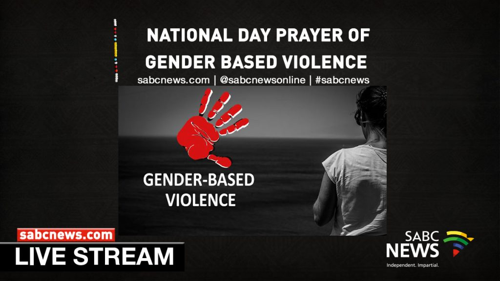 gbv prayer Streaming bannerYouTube 1024x577 - WATCH LIVE | SACC National Day of Prayer for Gender-based violence