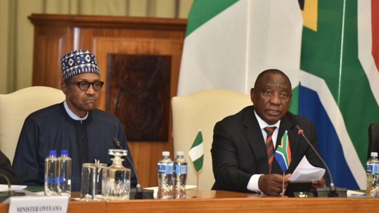 SABC News Buhari Ramaphosa @PresidencyZA 1 - WATCH: Media briefing on meeting outcome between Ramaphosa, Buhari