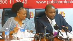 Busisiwe Mkhwebane and Kevin Malunga