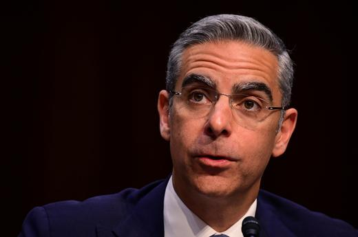 David Marcus, head of Facebook's Calibra (digital wallet service), testifies before a Senate Banking.