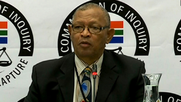 COPE spokesperson Dennis Bloem at the State Capture Inquiry.