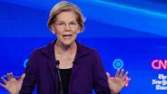 Democratic presidential candidate Senator Elizabeth Warren speaks during the fourth U.S. Democratic presidential candidates 2020 election debate at Otterbein University in Westerville.