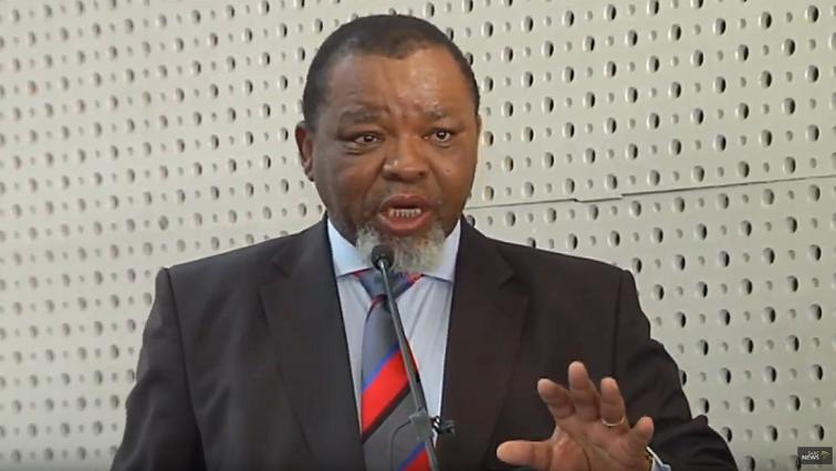 SABC News Gwede Mantashe SABC - Mantashe denies bribery claims