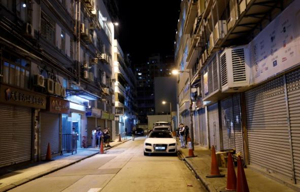 General view of the site where the leader of Hong Kong's Civil Human Rights Front Jimmy Sham was attacked in Mong Kok district in Hong Kong.