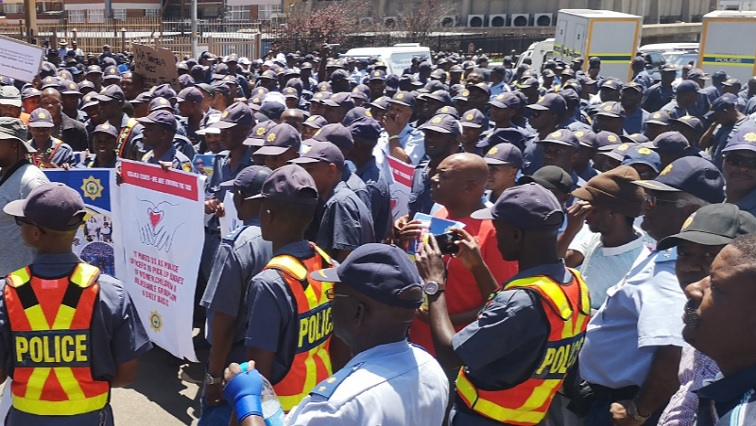 SABC News March.jpg Twitter@SAPolice - Cele leads march against gender-based violence