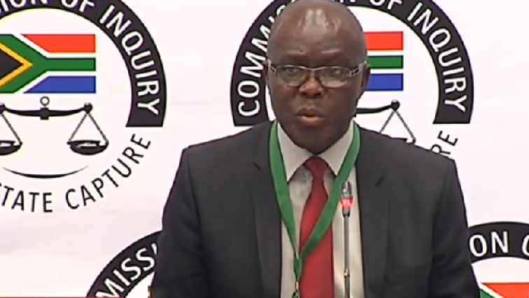 Former head of the Free State Agriculture Department Peter Thabethe at the Commission of Inquiry into State Capture.