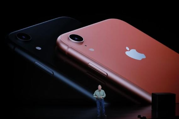Philip W. Schiller, Senior Vice President, Worldwide Marketing of Apple, speaks about the new Apple iPhone XR at an Apple Inc product launch event at the Steve Jobs Theater.