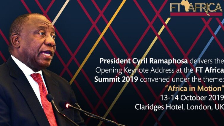 SABC News Ramaphosa FT @PresidencyZA - Ramaphosa to address the 6th Financial Times Africa Summit