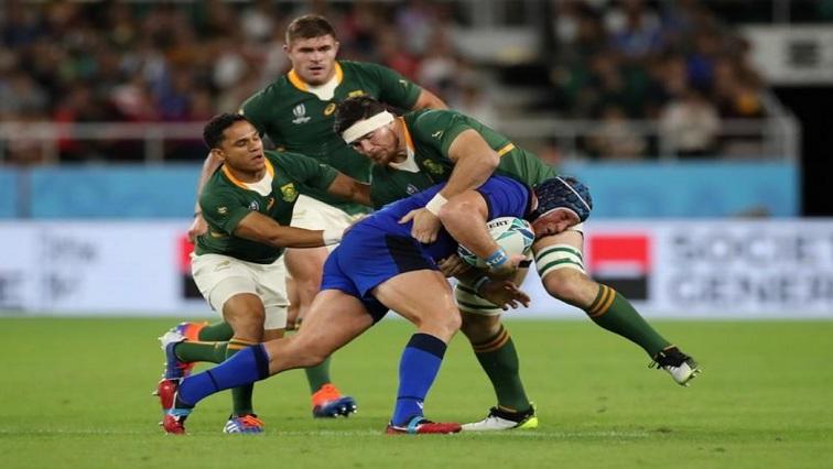 SABC News Springboks R - Springboks turn on the power against 14-man Italy to top Pool B