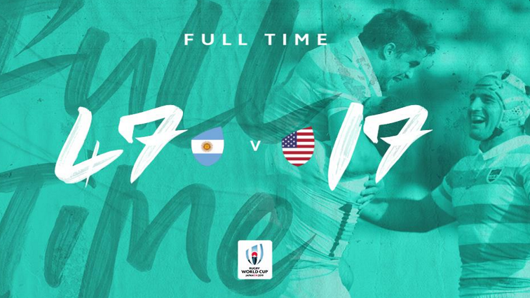 SABC News USA vs Arg Twitter @RWC2019 - Argentina records second win at Rugby World Cup