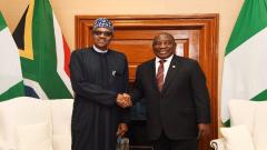 Cyril Ramaphosa and Muhammadu Buhari