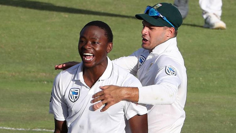 SABC News Kagiso Rabada Reuters - Proteas on the back foot at the end of day one
