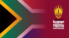 SA flag and SAHRC logo