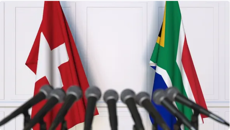 Swiss and SA flags