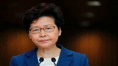 Hong Kong Chief Executive Carrie Lam speaks during a news conference in Hong Kong, China.