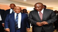 Cyril Ramaphosa and Dr Tom Thabane
