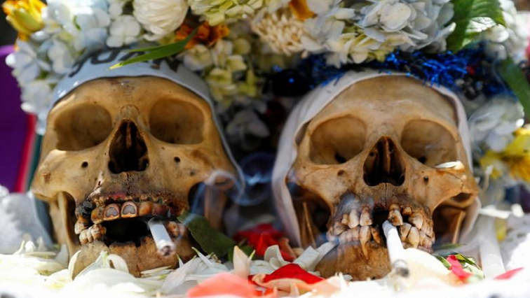 SABC News Decorated skulls Reuters - Bolivians turn to Day of Skulls for hope as protests rage