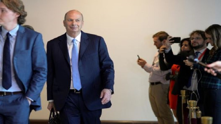 U.S. Ambassador to the European Union Gordon Sondland arrives to review his previous testimony to the U.S. House of Representatives impeachment inquiry into U.S. President Trump led by the House Intelligence.