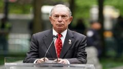 Former Mayor of New York Michael Bloomberg speaks in the Manhattan borough of New York, New York.