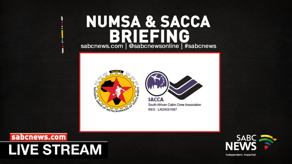 SABC News Numsa and SACCA LIVESTREAM 1024x577 - WATCH LIVE: NUMSA and SACCA brief members on mediation with SAA
