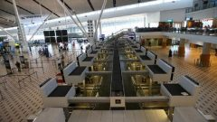Deserted counters are seen as South African Airways (SAA) workers downed tools on Friday in a strike over wages and job cuts.