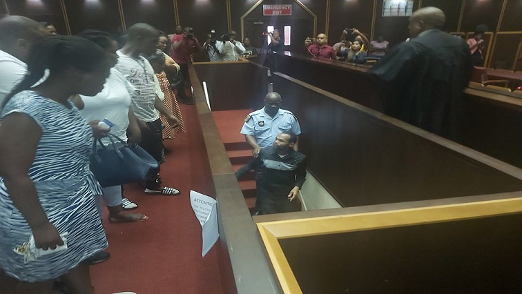 Sibusiso Mpungose leaving the Pietermaritzburg High Court.