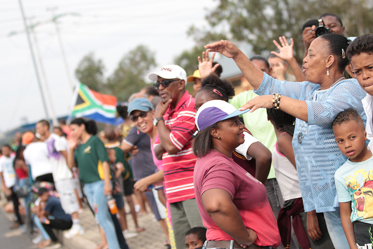 SABC News Bok Supporters Riverlea by Dinilohlanga Mekuto - Thousands come out in Joburg and Soweto to celebrate Springboks' World Cup victory