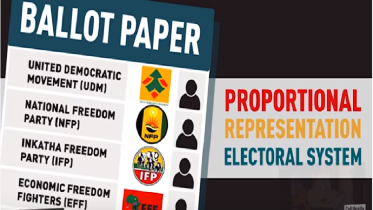Example of ballot paper