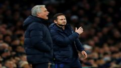 Chelsea manager Frank Lampard and Tottenham Hotspur manager Jose Mourinho